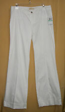Michael Kors women's white bell bottom flare leg pants front center seam $150