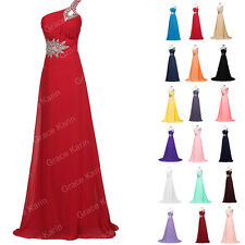 Prom Wedding Bridesmaid Dress Long Pageant Cocktail Party Ball Gown UK SIZE 6-20