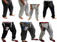 Soul Star Mens Jogging Cuffed Tracksuit Trousers Fleece Lined Gym Sports Casual