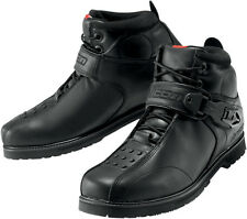 Mens Icon Super Duty 4 motorcycle biker black leather over ankle riding boots