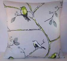 Prestigious Berkeley Square Lime Birds Grey Trees Cushion Cover All Sizes