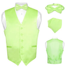 Men's Dress Vest BOWTie LIME GREEN Bow Tie Set for Suit or Tuxedo