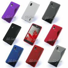 S-Line Rubber TPU Silicone Case Skin Cover For LG Optimus G,F180,LS970 +LCD Film