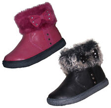 Baby infant girls winter fur ankle boots  NEW 3 4 5 6 7 8 8.5 9 black, pink