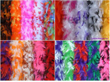 "65g 72""long Chandelle Feather Boa with Tips, 10+ unique patterns to pick from"