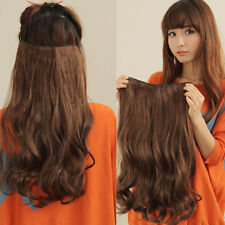 New 5 Clip in Long Curly Wave Hair Extensions 2014 Human xmas Party Black Brown