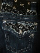 "MISS ME JEANS ""ROSE SEQUIN SEQUENCE"" JP6215B BOOT CUT"