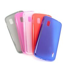 Perfer! Durable Soft TPU Silicone Gel Cover Skin Case for Google Nexus 4 LG E960