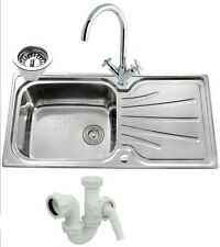 Single Bowl Stainless Steel Kitchen Sink With Plumbing Kit- Polished Finish