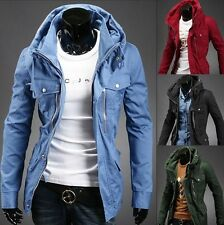 New Fashion Korean long section of the Men's Long Sleeve Slim Fit Jacket Coat