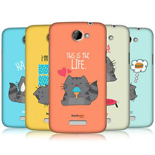 HEAD CASE DESIGNS WILBUR THE CAT PROTECTIVE HARD BACK CASE COVER FOR HTC ONE X