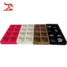TC 8 Compartment Wood Jewelry Tray Drawer Organizer Storage Jewelry Case 4Colors