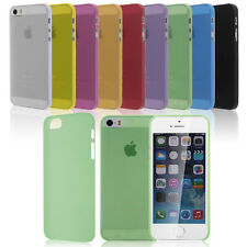 0.3mm Thin Matte Soft TPU Back Case Cover Protective Skin for Apple iPhone 5 5S