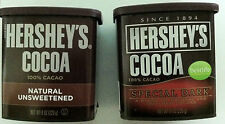 2 Hershey's Cocoa Natural Unsweetened or Special Dark You choose Free Shipping!