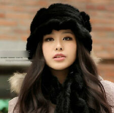 566 new real farms knitted mink fur black hat /caps