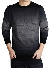 Casual Mens Crewneck Long Sleeve Knitted Sweater T-Shirt Tops Knitwear Thin