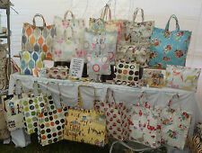 NIKKI'S ORIGINAL HAND MADE TOTE BAGS VARIOUS SIZES & STYLES 100% COTTON OILCLOTH