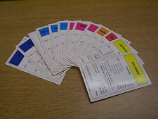 MONOPOLY PROPERTY CARDS - ALL VARIATIONS £1.25 PER PIECE FREEPOST. SPARES VGC.