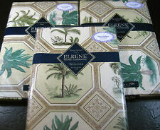 """FLANNEL-BACKED VINYL """"PALM TREES""""   TABLECLOTHS - ASSORTED SIZES- BRAND NEW"""