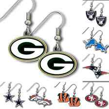 NFL Football Womens Jewelry Dangle Earrings Team Logo - Pick Your Team!