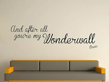 After All You're My Wonderwall Decorative Wall Art Sticker Text 3 Size 30 Colour