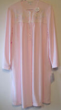 Miss Elaine heavenly bodies Short Pink Winter Nightgown Womens Plus Size 1X Gown