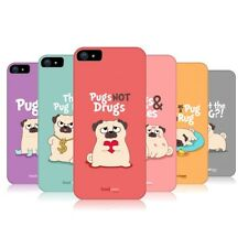 HEAD CASE DESIGNS PIPER THE PUG PROTECTIVE BACK CASE COVER FOR APPLE iPHONE 5 5S