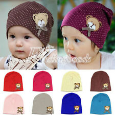 Bear Baby Cute Girls Crochet Knitted Kids CottonBeanie Toddler Hat Cap