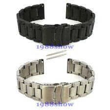 New 22 24 mm Heavy Brushed Double Lock Clasp Stainless Steel Watch Band Bracelet