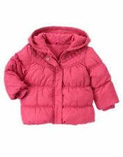 NWT GYMBOREE Woodland Friends Pink Hooded Puffer Coat Jacket size 2T-3T 4T-5T