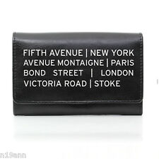 NEW PERSONALISED BLACK LEATHER PURSE CHOOSE FROM 11 DESIGNS CHRISTMAS BIRTHDAY