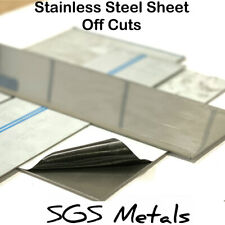 Brushed Stainless Steel Sheet Plate Offcuts - 430 Grade Magnetic Guillotine Cut