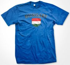 Hungary Country Crest Flag Colors Nationality Ethnic Pride -Mens T-shirt