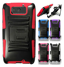 Verizon Motorola Droid ULTRA XT1080 Combo Holster HYBRID KICK STAND Rubber Case