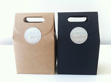 12PCS Wedding/Party Brown Kraft Bomboniere Favour / Lolly Boxes / Bags