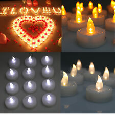 24/60/100 PCS Electronic Tea Light LED Candle Cool White Warm White Amber Yellow