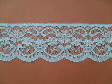 "TOP QUALITY PRETTY PALE BLUE NOTTINGHAM  LACE 2.5"" wd  Clothing/Card/Trim/"