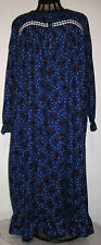 Womens Size S M L XL Winter Flannel Black Kitty Cat Nightgown Gown Laura Scott