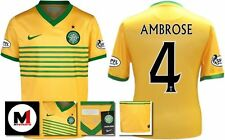 *13 / 14 - NIKE ; CELTIC AWAY SHIRT SS + ARM PATCHES / AMBROSE 4 = KIDS SIZE*