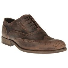 New Mens SOLE Brown Ruger Leather Shoes Brogue Lace Up