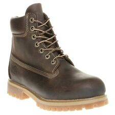 New Mens Timberland Brown 6` Premium Leather Boots Work Lace Up
