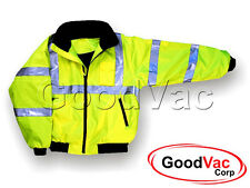 MAJESTIC 75-1301 High Visibility Lined Protective Bomber Jacket Fleece Lining