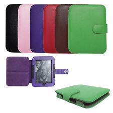 Genuine Leather Case Cover for Barnes Noble Nook GlowLight and Simple Touch
