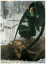 Schwabe - The Grave Diggers Death (1895) Art Canvas/Poster Print A3/A2/A1