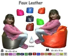 Kids Faux Leather Classic Bean Bags Childrens Beanbag Chair Bean Bag Couch