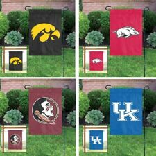 Choose Your NCAA A-M Team Applique Embroidered Garden & Window Flag Banner