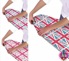 NEW VINTAGE UNION JACK PADDED MULTI FIT ELASTICATED IRONING BOARD COVER