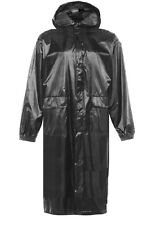 MENS LONG WATERPROOF WINDPROOF JACKET gents black hiking country trench coat