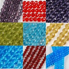 4mm 6mm 8mm 10mm Faceted Round Glass Loose Beads Strand Jewelry Makings