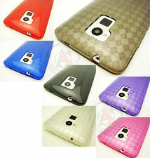 For HTC One MAX TPU CANDY Gel Flexi Skin Case Cover Accessory Plaid Pattern